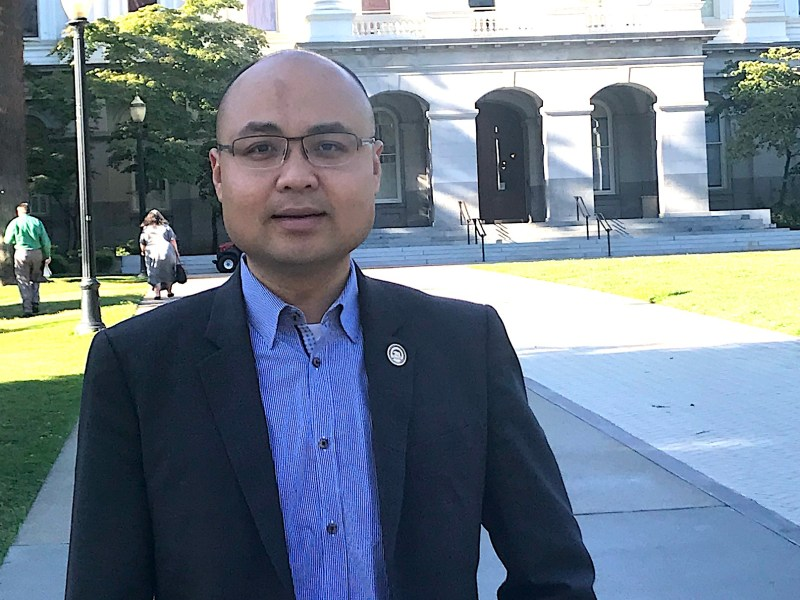 Assemblyman Tyler Diep, Republican from Westminster, outside the California Capitol.