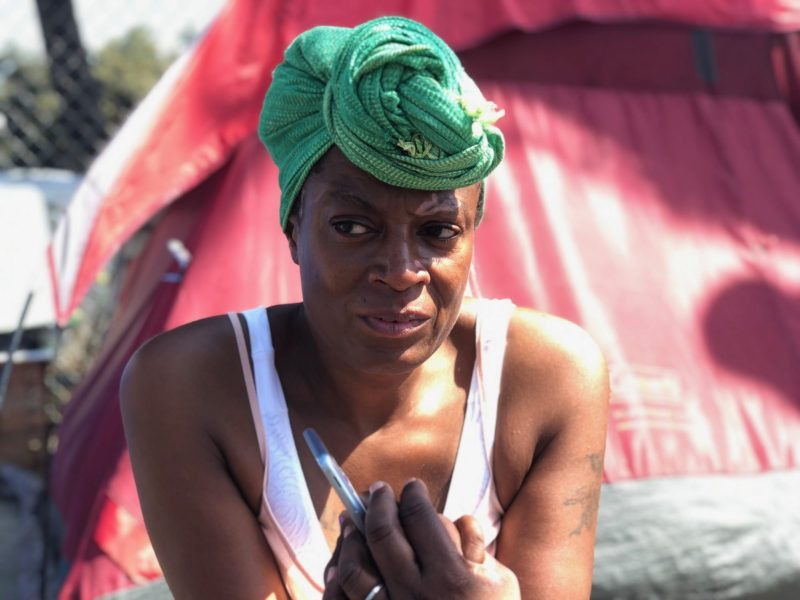 Shawnda Thornton, who has been homeless for about three years, lives in Venice, CA. Photo courtesy of Coley King.