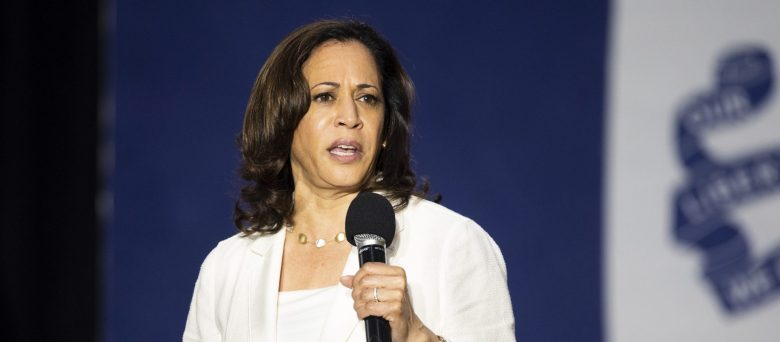 "U.S. Sen. Kamala Harris is campaigning for the White House as a ""progressive prosecutor."" Photo by Michael Brochstein/Sipa USA)(Sipa via AP Images)"