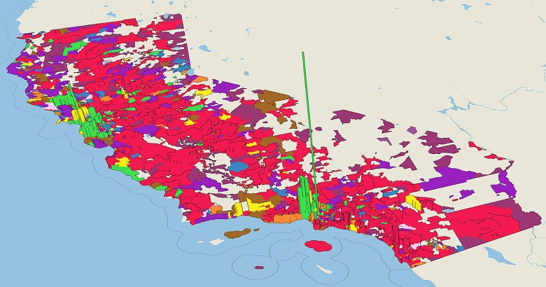 The California big-donor money race among presidential candidates, zip code by zip code. Data visualizations by Ben Christopher for CalMatters