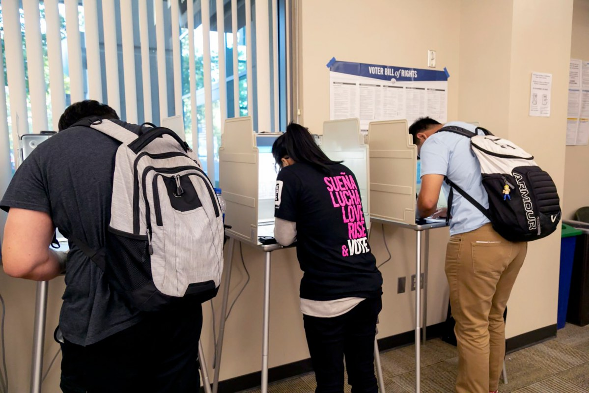 Sacramento State students voting 2019 election