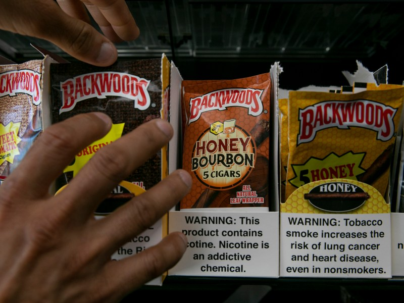 Cigars with flavored wrappers