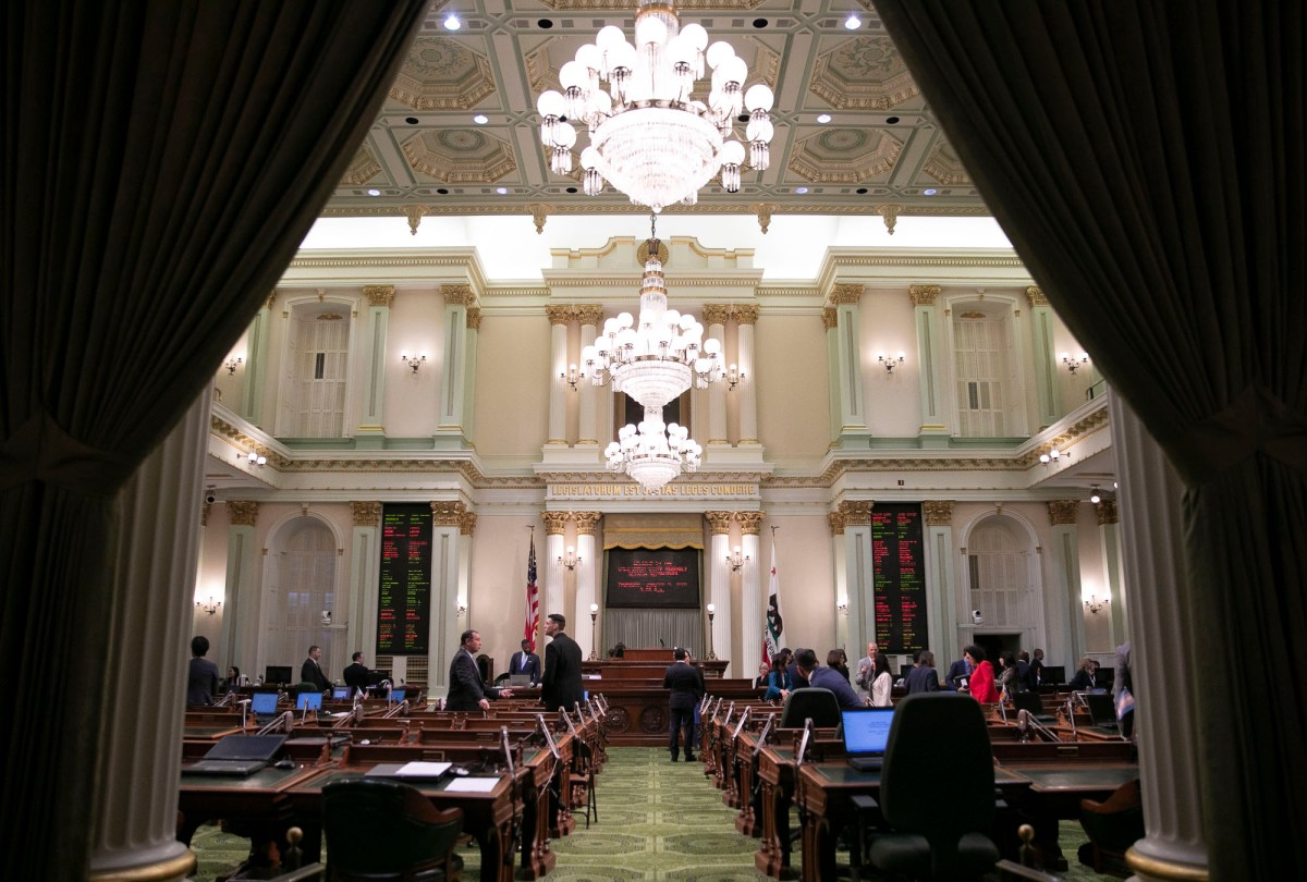 The California Assembly chamber