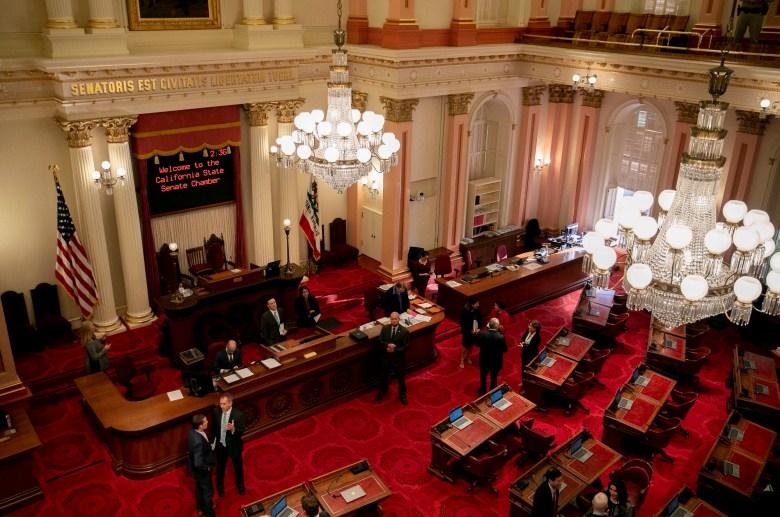 The California State Senate chamber