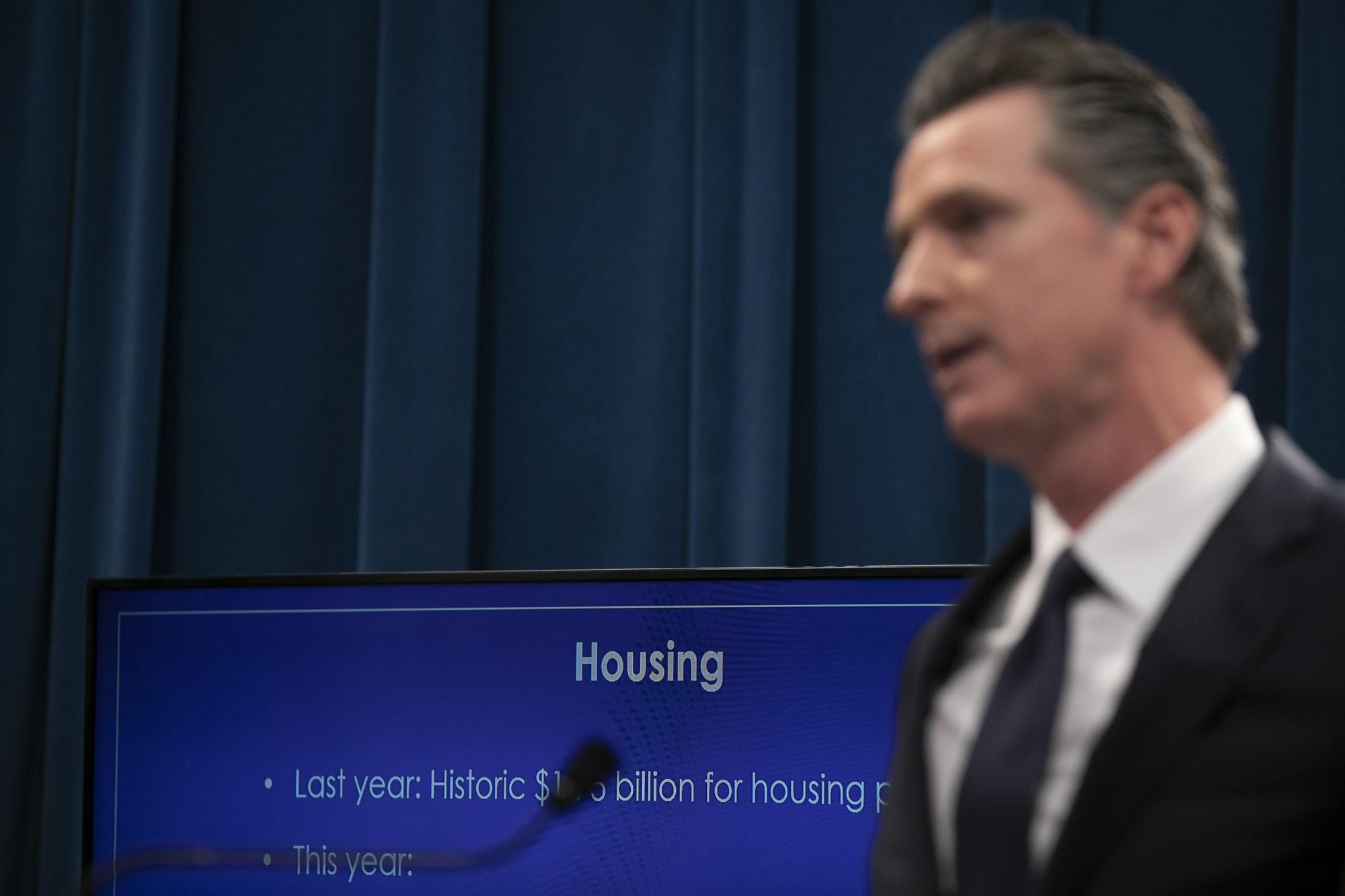 Victorious in recall, Gavin Newsom refocuses on California housing crisis