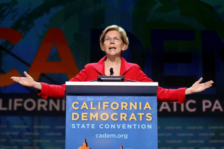 Democratic presidential candidate U.S. Senator Elizabeth Warren