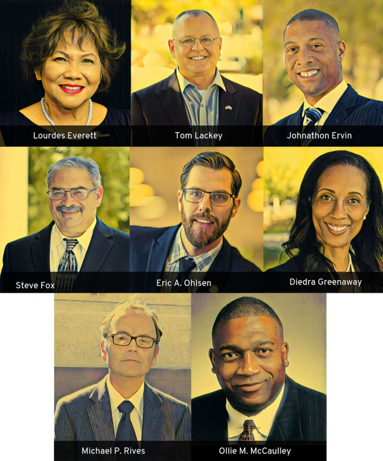 photo illustration of the california assembly district 36 candidates