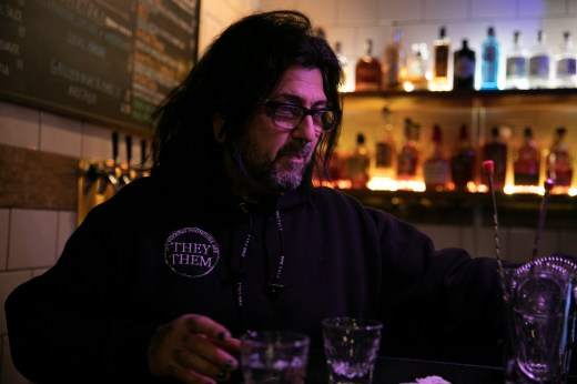 Kazem ZiaEbrahimi, a bartender at Beeryland in Oakland, on the last night the bar will be open for at least three weeks due to a shelter in place order meant to curb the spread of the coronavirus.