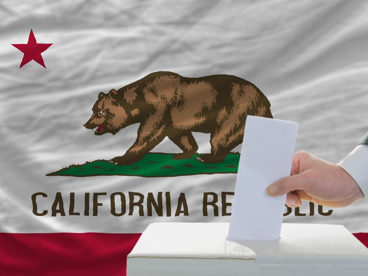 California election results photo illustration