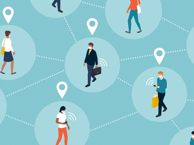 Tech giants based in California are collaborating on an app to make contact tracing easier — an effort to slow the spread of coronavirus that could also raise privacy questions. Image via iStock