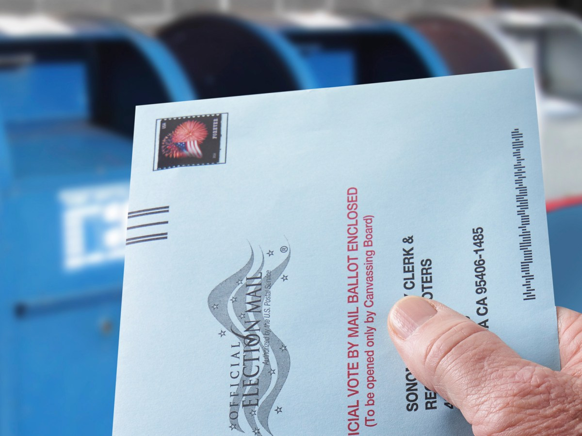 California's governor wants a mail ballot issued to all state voters, with some in-person voting options. But a judge just issued a restraining order against one of two orders, suggesting Gavin Newsom has overstepped his authority. Photo via iStock