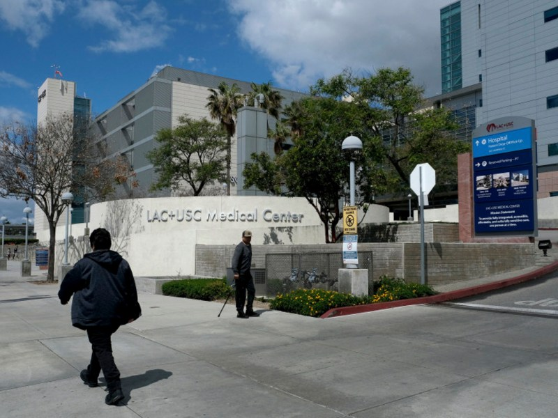 LAC + USC Medical Center in Los Angeles on Monday, March 23, 2020. Photo by Dean Musgrove, Los Angeles Daily News/SCNG