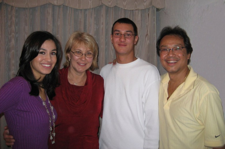 From left: Brigida, Kathy, Luis and Fred Santos pose for a family portrait. Photo courtesy of Fred Santos