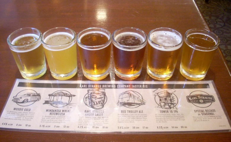 Karl Strauss Brewing Company beer flight. Photo via Flickr