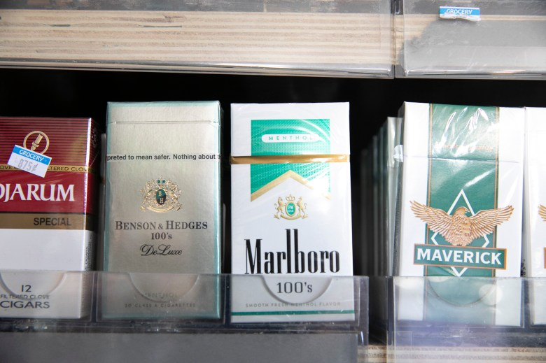 Menthol Cigarettes at a liquor store in Berkeley. Photo by Anne Wernikoff for CalMatters