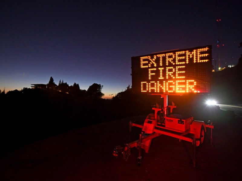 Due to high winds and dry conditions PG&E will turn off the power to over 361,000 customers in 36 counties to protect them from possible wildfires caused by downed power lines. Photo by Jose Carlos Fajardo, Bay Area News Group
