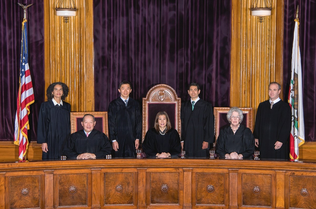 Justices of the Supreme Court of California. Judge Martin Jenkins has been appointed to the state's highest court following the retirement of Justice Ming W. Chin in August. Photo via California Courts