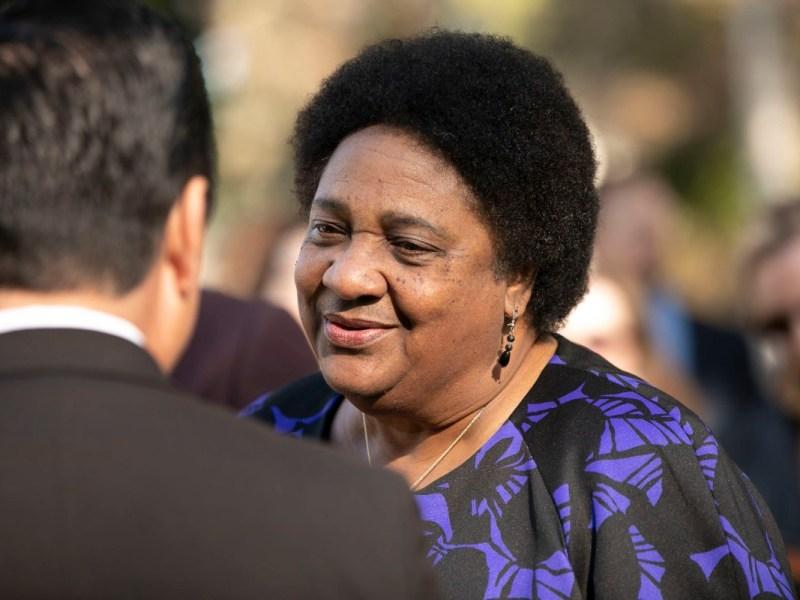 La asambleísta Shirley Weber en el día de apertura de la sesión legislativa de 2020. Foto de Anne Wernikoff para CalMatters