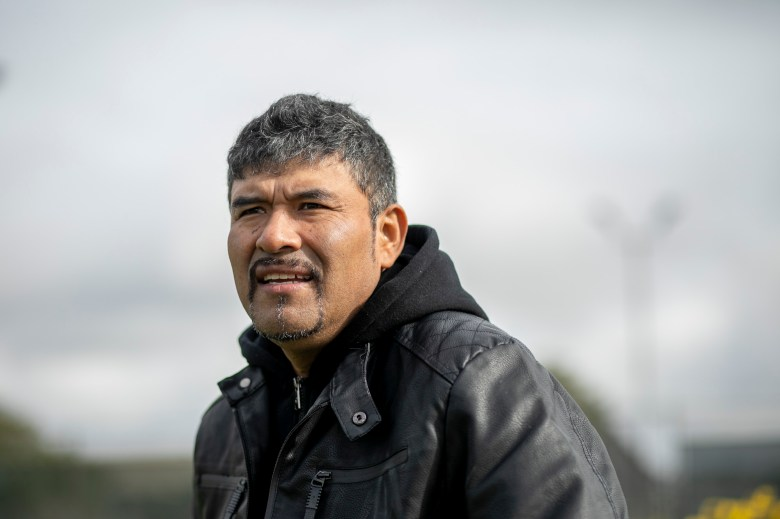 Richmond resident Guillermo Hernandez, the lead plaintiff in a 2016 case against the DMV to have driver's license suspensions lifted, is photographed at Nicholl Park on Jan. 28, 2021. Hernandez had his license suspended after he was unable to pay a ticket and associated fees in 2013. Photo by Anne Wernikoff, CalMatters