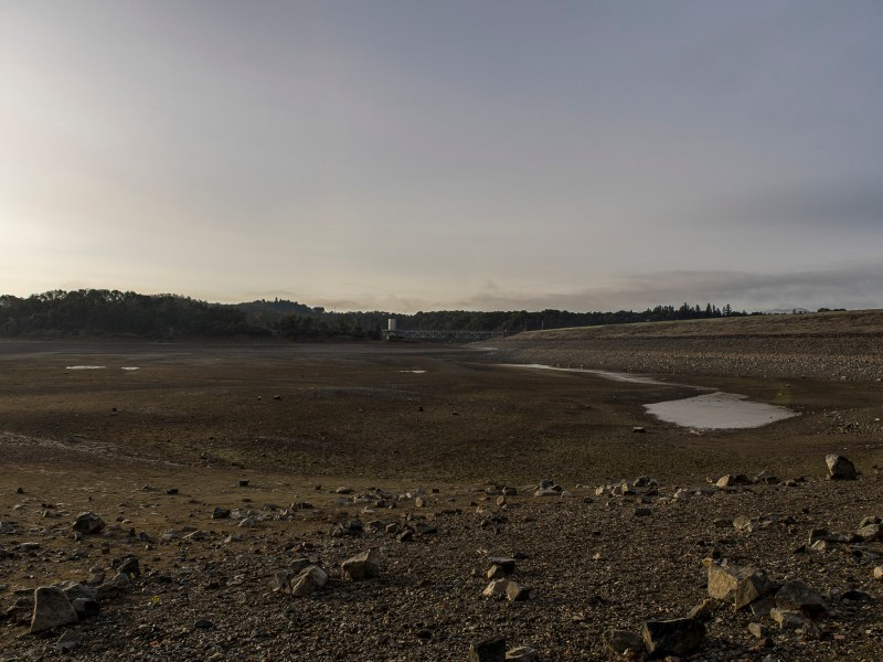 Drought conditions visible at Lake Mendocino in January. Photo by Bobby Cochran Photography courtesy of Russian River Flood Control, & Water Conservation Improvement District