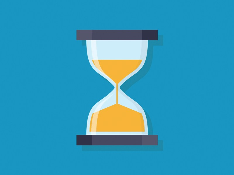 An hourglass. California elections officials anxiously await delayed Census data. Image via iStock