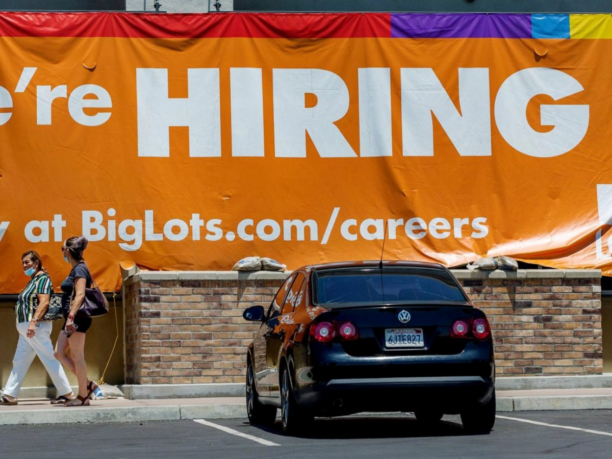 Big Lots! went big on help wanted sign as signs around the region are getting the cold shoulder from workers reluctant to resume service-industry jobs in Moreno Valley on July 5, 2021. Photo by Terry Pierson, The Press-Enterprise/SCNG