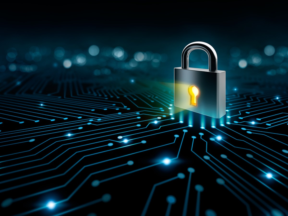 Lock on the converging point on a circuit. California schools are increasingly the target of ransomware attacks —and even if they pay, experts say they are unlikely to recover all their lost data. Image via iStock.