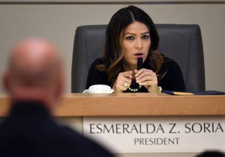 Fresno City Council President Esmeralda Soria makes a point during a council meeting, on Feb. 15, 2018. Photo by John Walker, The Fresno Bee