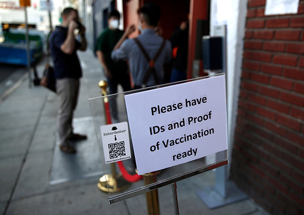Gov. Gavin Newsom announced venues hosting more than 1000 attendees will require proof of vaccination or negative COVID-19 test. Photo by Nhat V. Meyer, Bay Area News Group