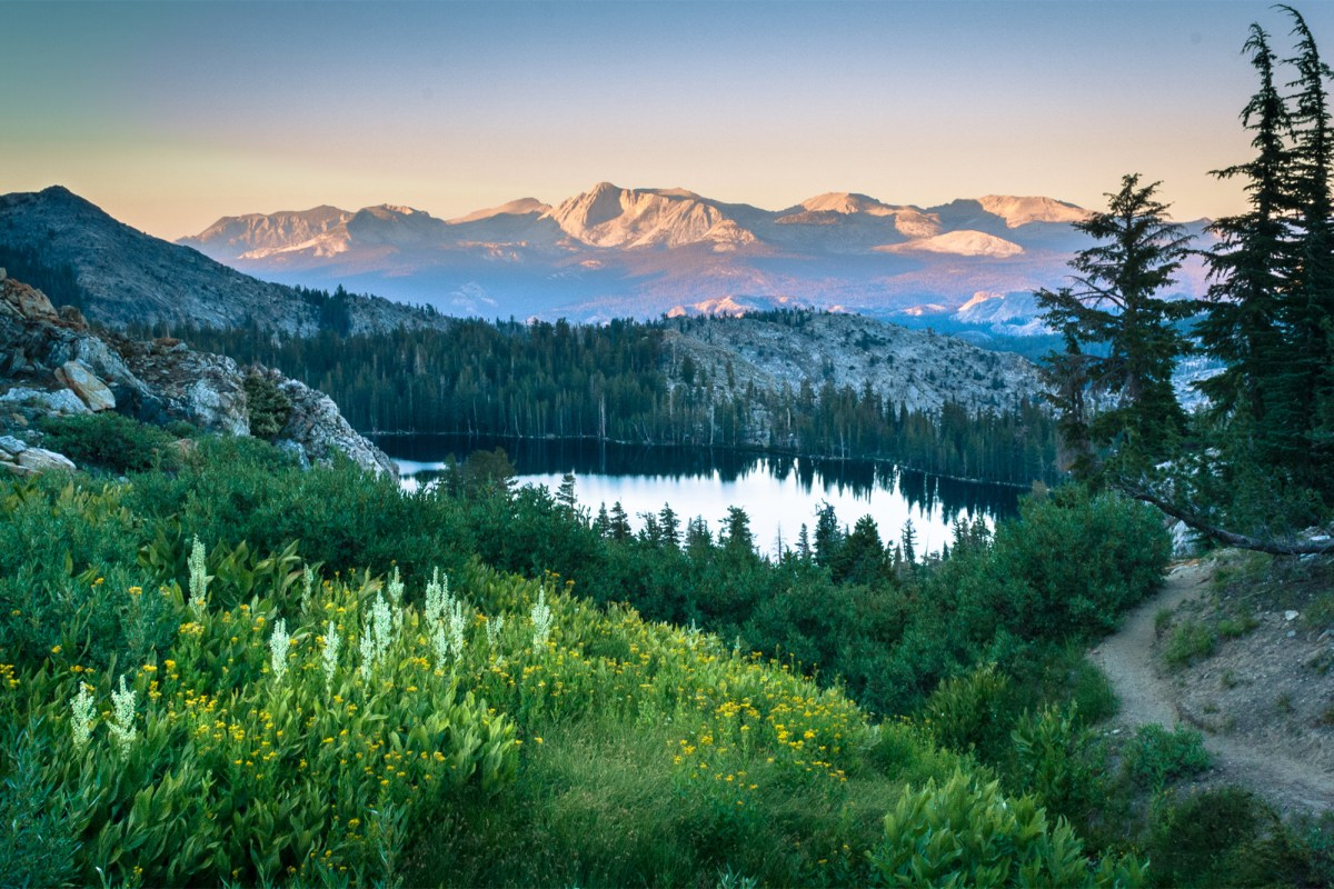 Sunset in the Sierra Nevada mountains of California. Getty Images/iStockphoto