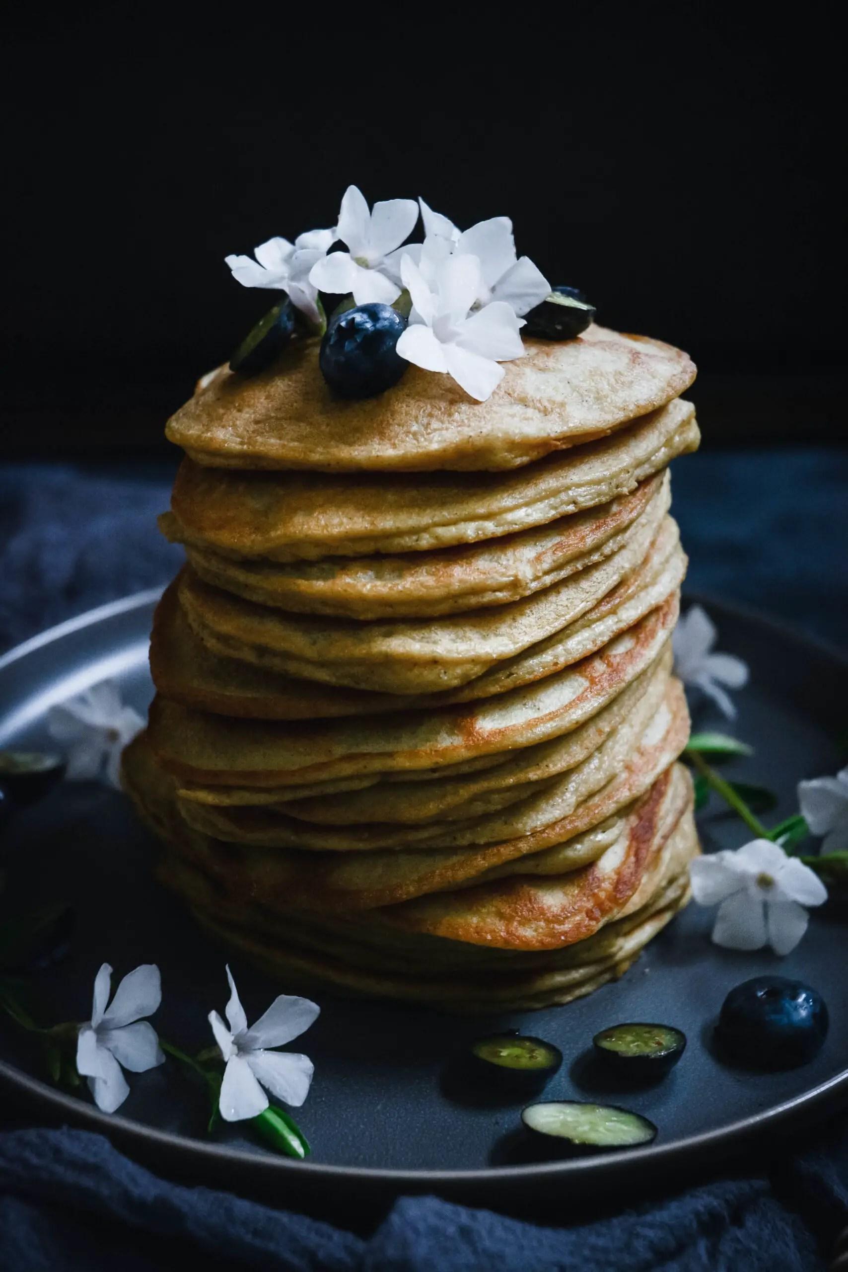 Grain-Free Cardamom Pancakes with Orange Blossom Water