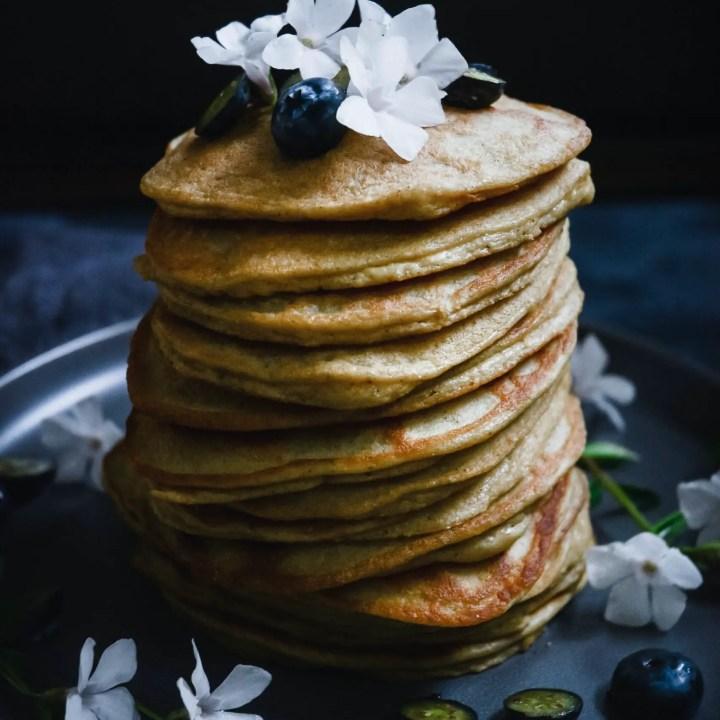 Low-Carb Orange Cardamom Pancakes (Grain-Free, Keto)