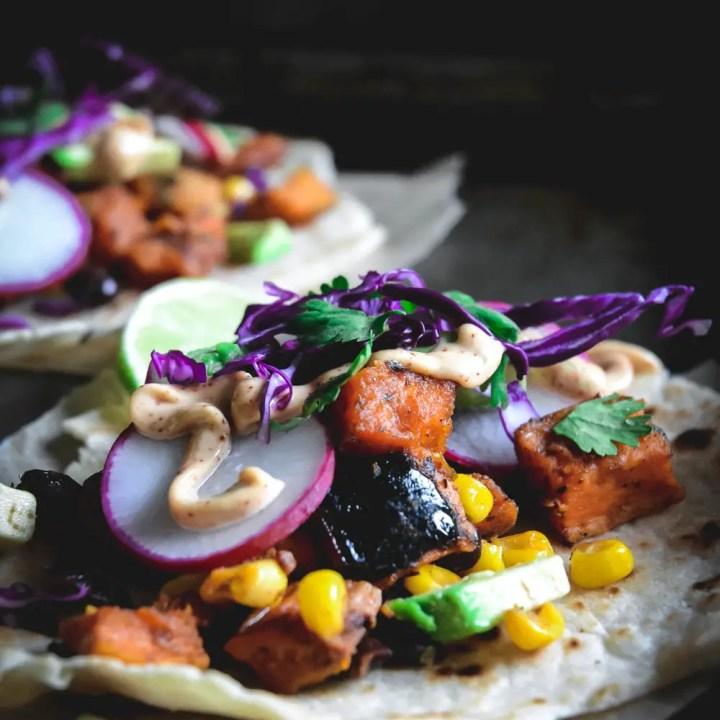 Vegan Roasted Vegetable Tacos