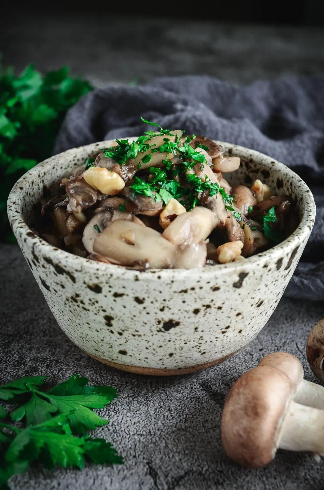 Sautéed Muhsrooms in bowl