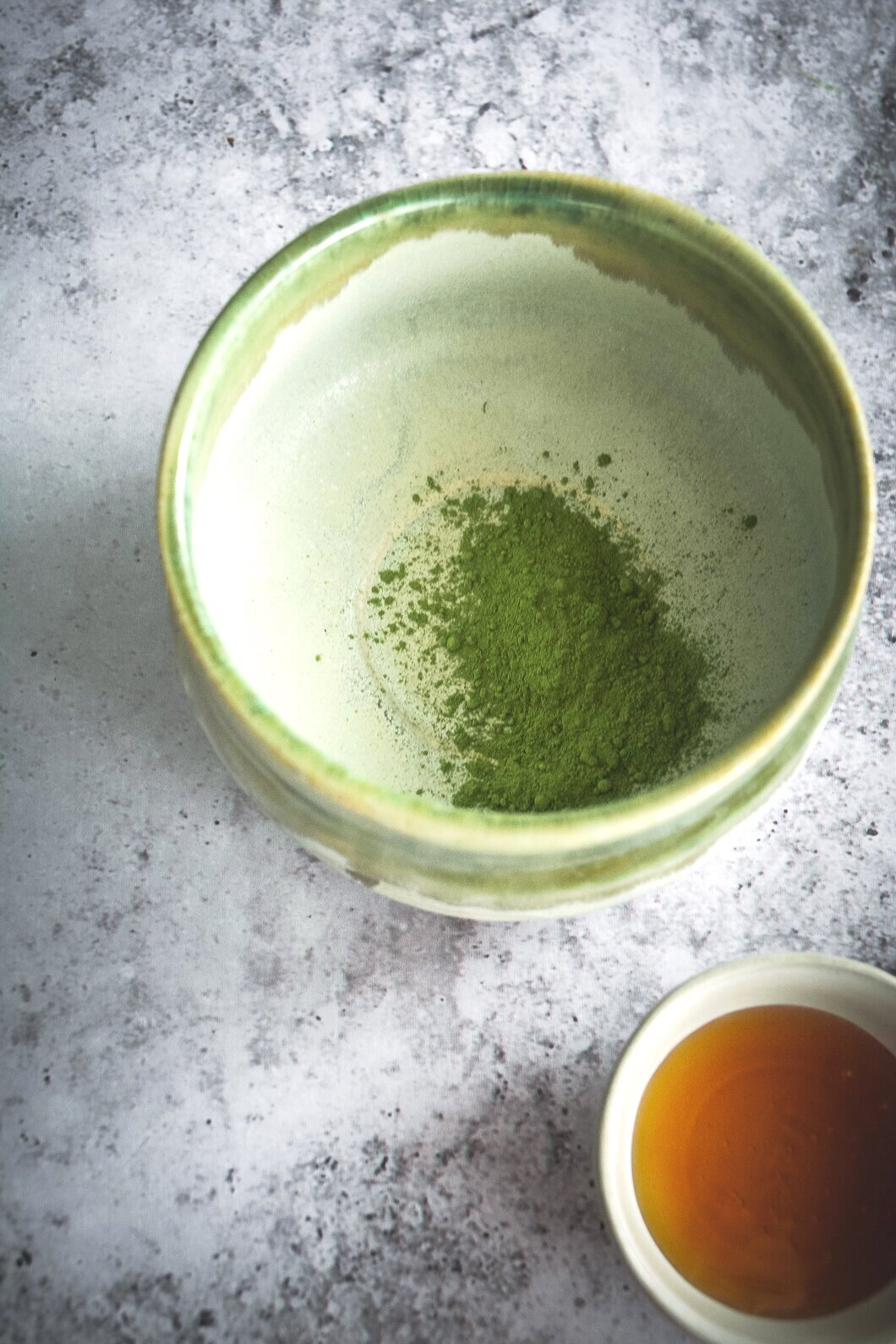 Matcha and moringa in mug