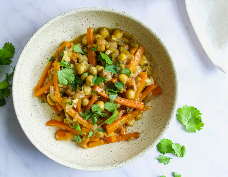 Moroccan Chickpea Tagine with Preserved Lemons