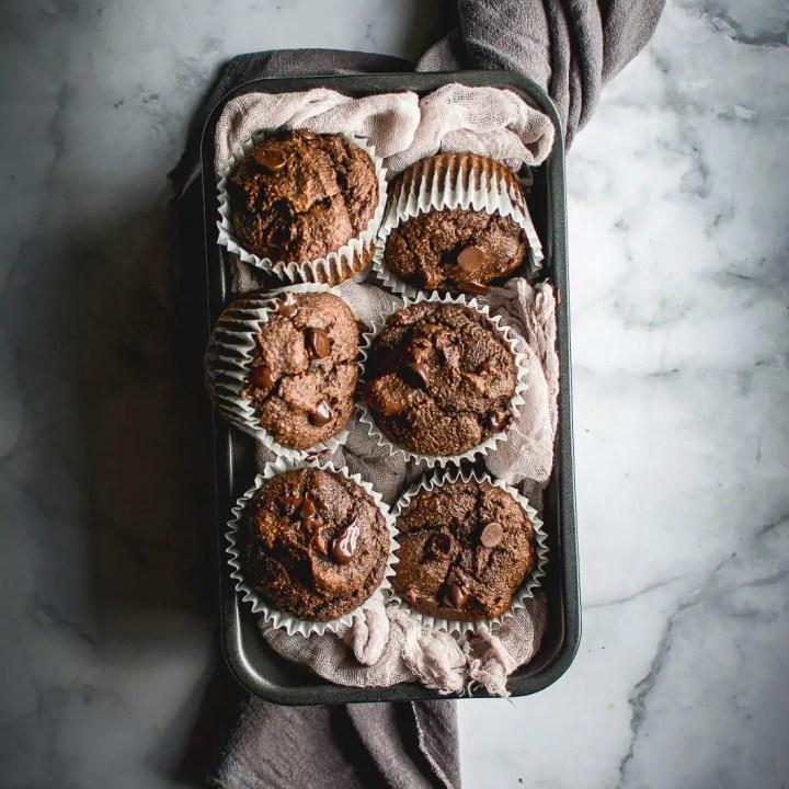Best Gluten-Free Double Chocolate Muffins (Grain-Free, Paleo)