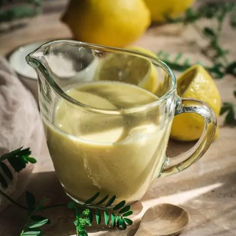 Easy Lemon Tahini Dressing (Keto, Vegan, Low-FODMAP)