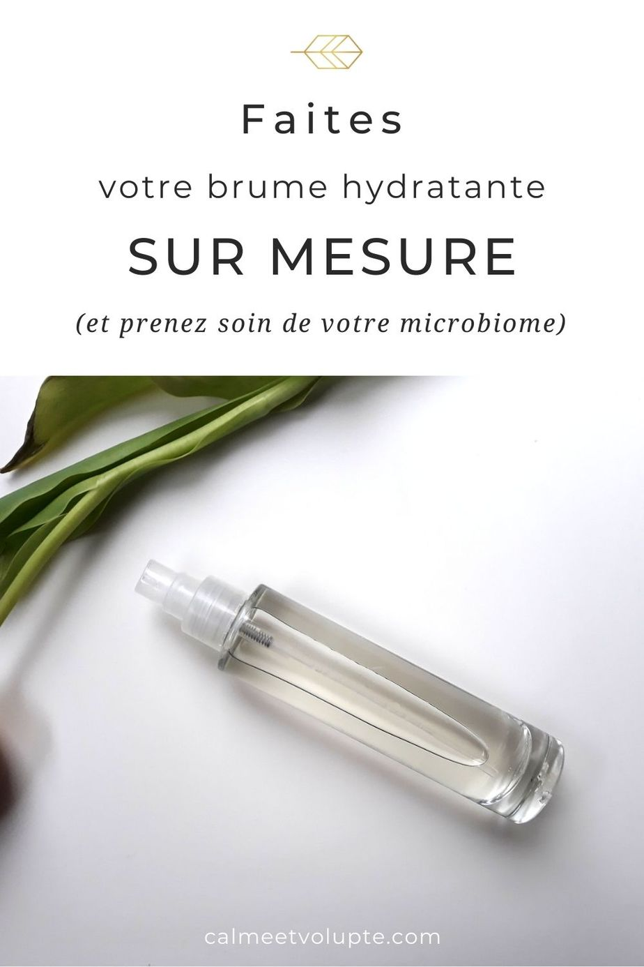brume hydratante maison aux prébiotiques
