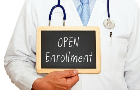 "Image showing a chalkboard with the words ""open enrollment"" written on it, indicating the availability of clinical trials, as described in this article on CALMERme.com"