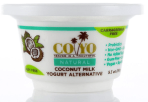 Image shows carton of CoYo plain yogurt, as described in this post on CALMERme.com