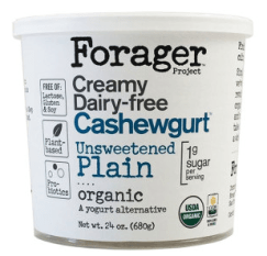 Image shows carton of Forager plain yogurt, as described in this post on CALMERme.com