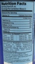 Image shows the label from a bottle of kombucha, as described in this post on CALMERme.com
