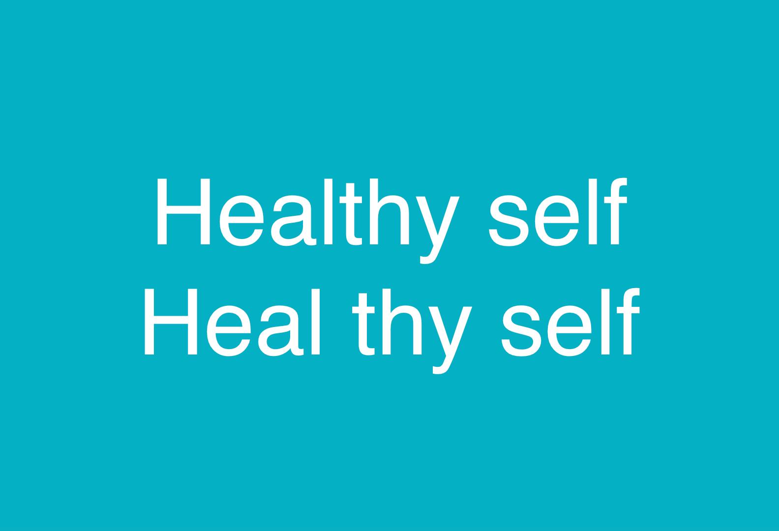 Image of Healthy Self, Heal thy self from CALMERme.com