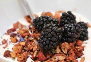Image of flowery grainless granola recipe from CALMERme.com