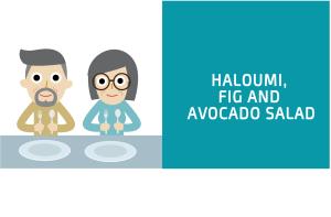 Haloumi fig and avocado salad blog header for CALMERme.com