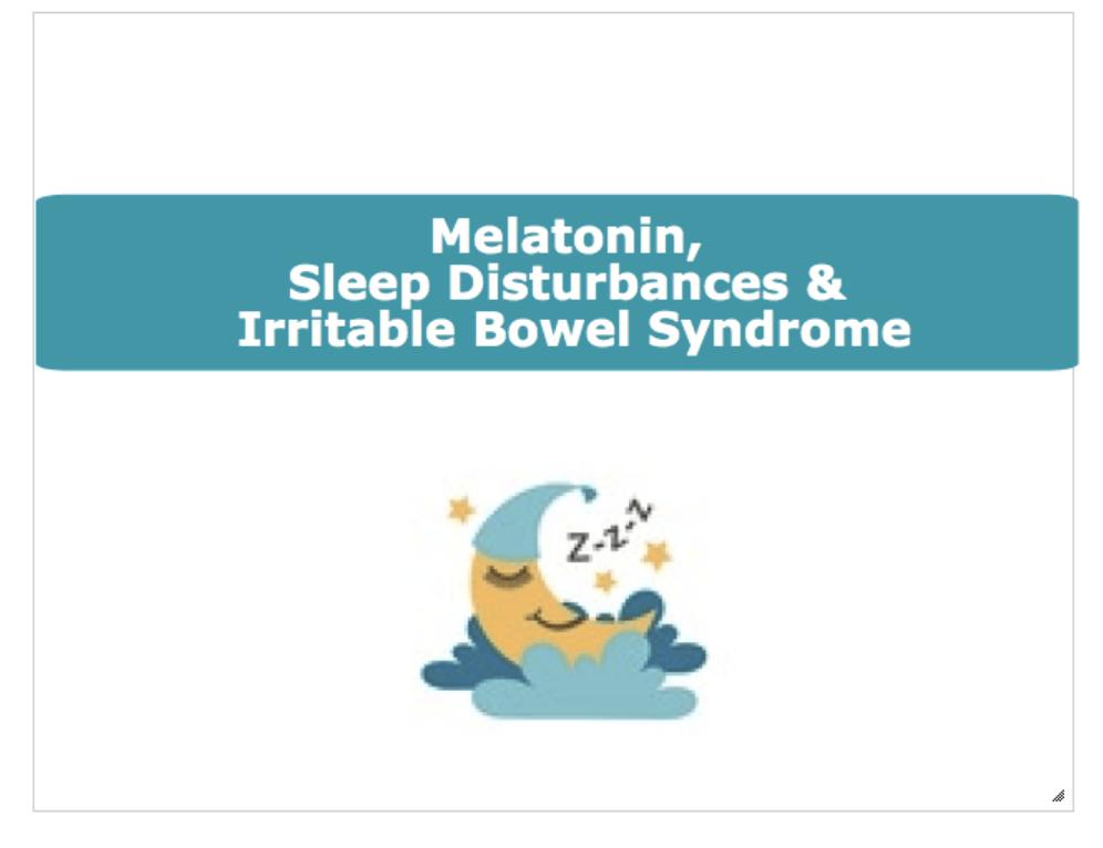Image for melatonin & IBS blog header