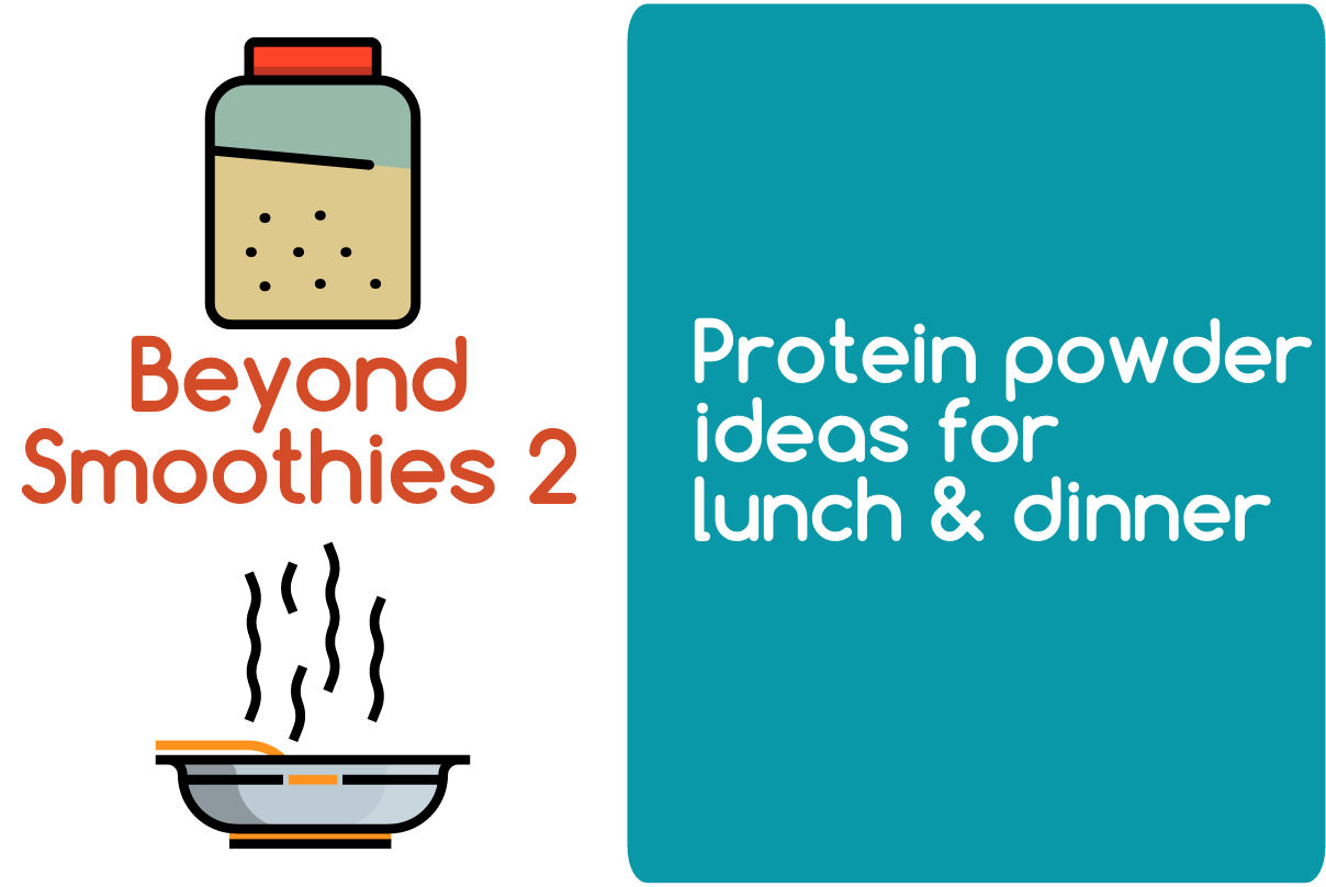 Protein powder ideas for lunch and dinner blogheader from CALMERme.com