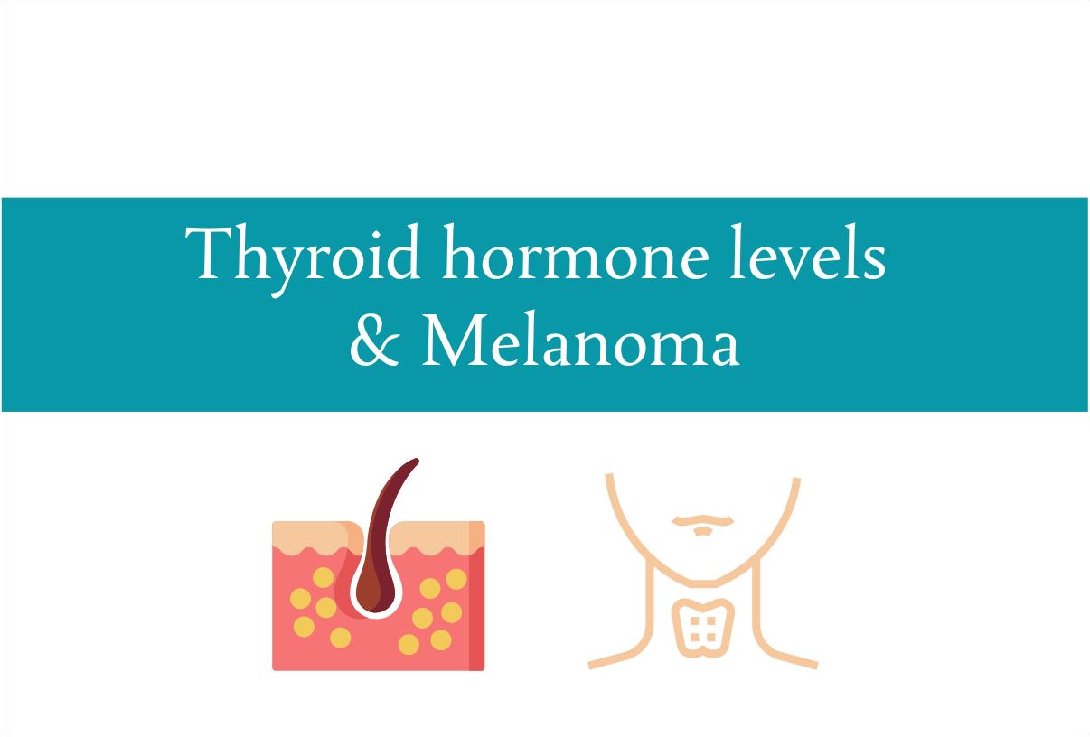 Blogheader for relationship between Thyroid hormones and melanoma from CALMERme.com