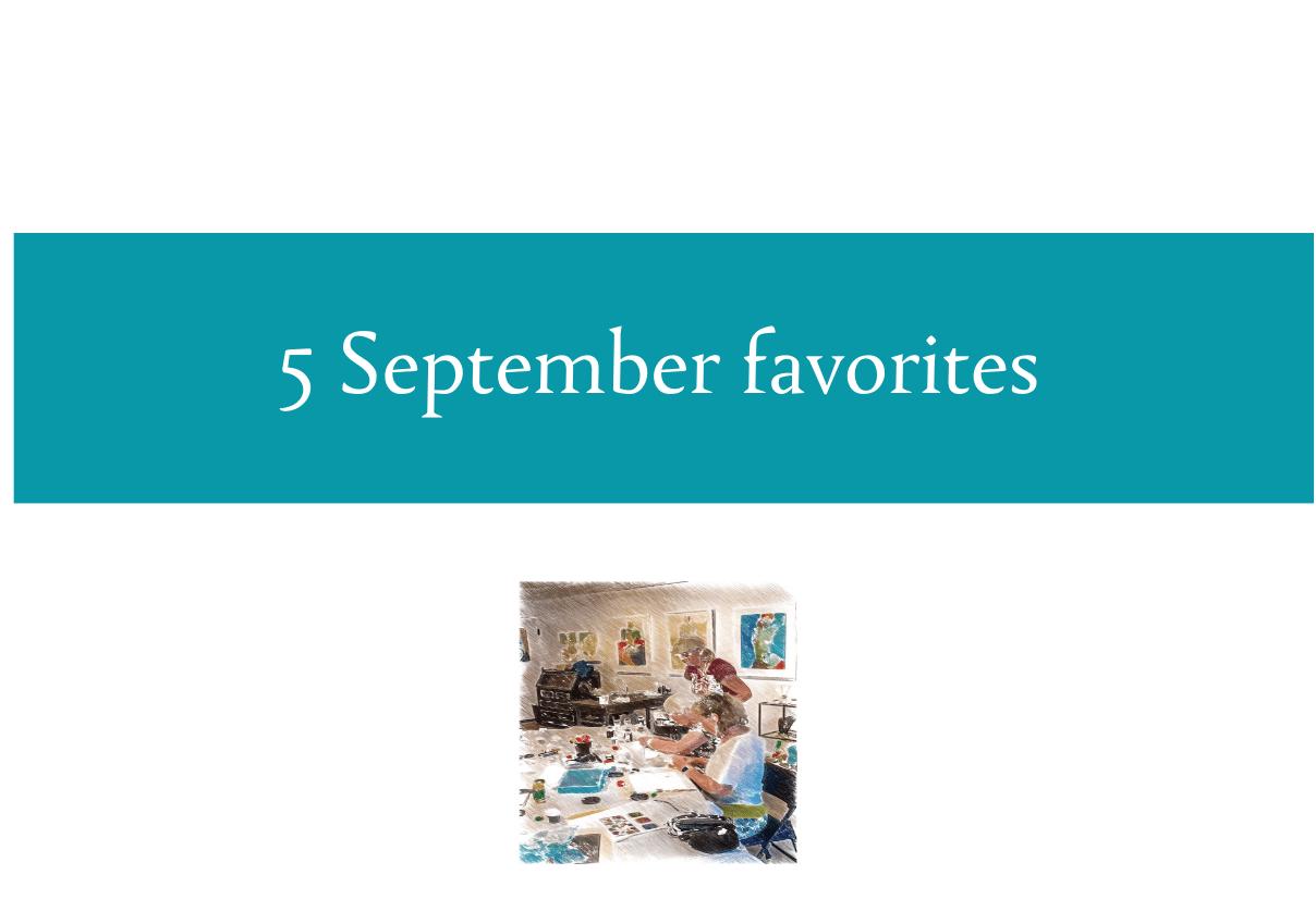 5 September favorites from CALMERme.com